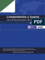 Lineamientos y Logros de la Política Exterior de Colombia 2010 - 2014