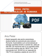 Studiul Pietei Automobilelor in Romania