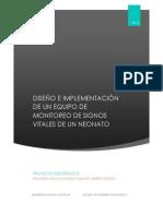 DISEÑO E IMPLEMENTACIÓN DE UN EQUIPO DE MONITOREO DE SIGNOS VITALES DE UN NEONATO
