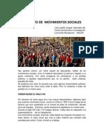 A PROPÓSITO DE MOVIMIENTOS SOCIALES