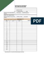 Pump Test Data Sheet