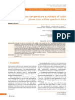 Low Temperature Synthesis of Cubic Phase ZnS QDs