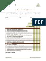 Team Assessment Questionnaire