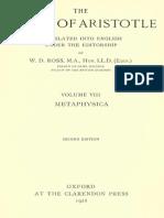 Aristotle 08 - Metaphysica - Ross