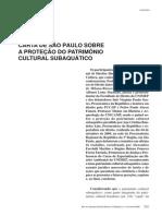 Carta de São Paulo - Congresso Internacional - 2008