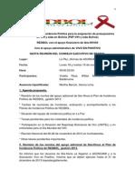 Acta 6ta Reunión Consejo Ejecutivo de REDBOL, 18-19 noviembre de 2013, en La Paz