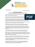 2014 Australian International Beer Awards entries now open