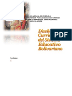 TRABAJO Diseño Curricular Bolivariano