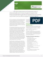 Breakthrough Outcome Informed Care