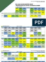 Jadwal Ujian Akhir Semester Genap 2012-2013 Fakultas Sastra Universitas Jember