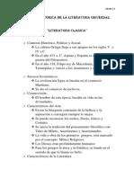 RESEÑA HISTORICA DE LA LITERATURA UNIVERSAL