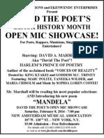 Black History Month Open Mic Showcase