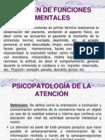 Examen de Funciones Mentales
