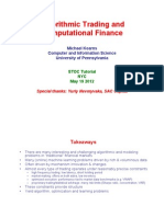 Algo Trading & Computational Finance STOCTutorial2012