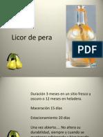 Licor Casero de Peras