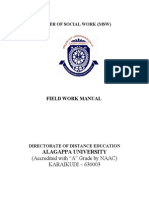 M.S.W. Paper 2.5 Field Work - Manual