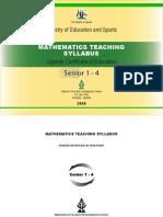 Mathematics Syllabus