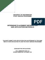 Internship Application Pack 2013 14