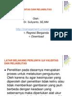 Uji Validitas Dan Reliabilitas 20091