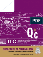 QUADERNOS DE CRIMINOLOGÍA NÚM. 21. Revista de Criminología y Ciencias Forenses, 2013
