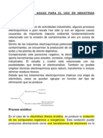 TRATAMIENTO DE AGUAS PARA EL USO EN INDUSTRIAS ELECTROQUÍMICA