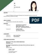 Resume Sample for Fresh Graduates Intern
