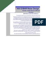 HILTI ExBar Rebar Design Soft Ware