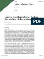 Liminal Transformations
