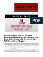 Blog Post Media Directory Site Media Connections Can Get Your Press Release in Front of the Right Journalists Bloggers