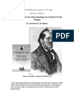 New Volume of Friedrich List Must Reading for Patriots