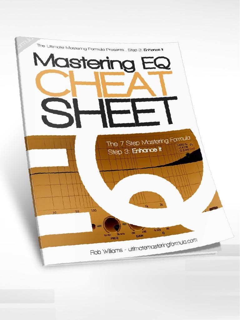 Rob Williams - Mastering EQ Cheat Sheet (Enhance It