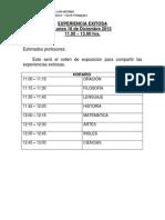 Experiencia Exitosa 16.12.13