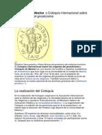 Coloquio de Mesina  o Coloquio internacional sobre los orígenes del gnosticismo.docx