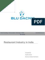 Restaurant Industry in India-Final