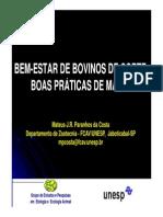 BEM-ESTAR DE BOVINOS DE CORTE - BOAS PRÁTICAS DE MANEJO