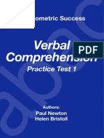 Psychometric Success Verbal Ability - Comprehension Practice Test 1
