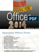 Tips to Crack IBPS Specialist Officers Exam 2014