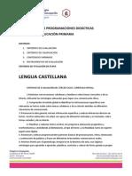 Extracto programaciones didácticas tercer ciclo EP 2013-2014