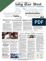 The Daily Tar Heel for January 17, 2014