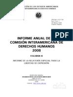 Informe Anual CIDH 2008