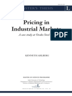 Pricing in Industrial Markets - OVACO