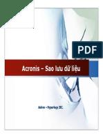 Acronis - Sao Luu Du Lieu