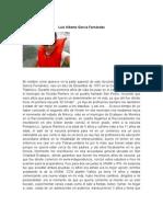 Biografia Luis Alberto Garcia Fernandez