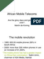 20 Martin de Koning African Mobile Telecoms 1 Dec 2010