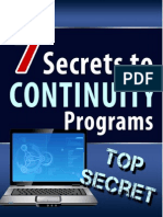 Seven Secrets to Continuity Programs