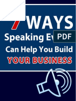 7 Ways Speaking Events Can Help You Build Your Business