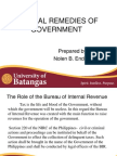 TAX JUDICIAL REMEDIES OF GOVERNMENT