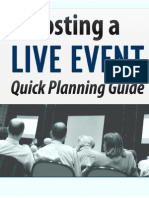 Hosting a Live Event Quick Planning Guide