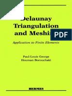 Delaunay Triangulation and Meshing - George & Borouchaki