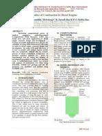CFD Studies of Combustion in Diesel Engine